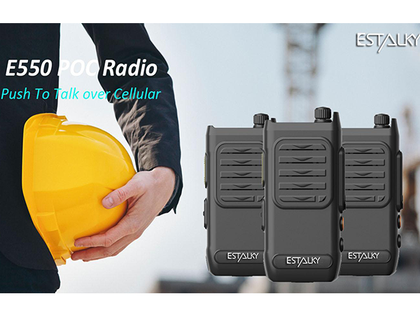 4G None PTT Radio(E550) with 0.97 OLED screen, IP67 waterproof&1.5 drop standard